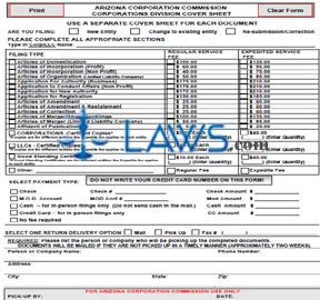 Form CFCVLR Cover Sheet for Corporate Filings
