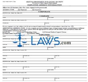 Form CSE-1163A Employer Address Information