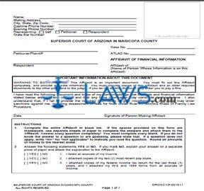 Form DROSC13f Affidavit Of Financial Information