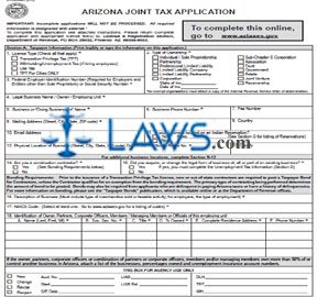 Form JT-1 Joint Tax Application for a Business License