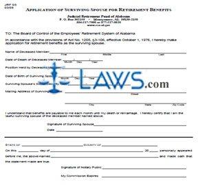 Application of Surviving Spouse for Retirement Benefits
