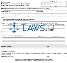 Form 12, Insurance Authorization