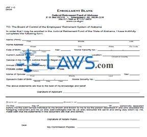 Form 1-C, Enrollment Blank