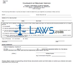 Form TRS SMS 1109 State Military Service Purchase