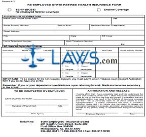Retiree Re-Employed Form
