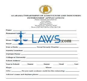 Alabama Department of Agriculture And Industries Internship Application