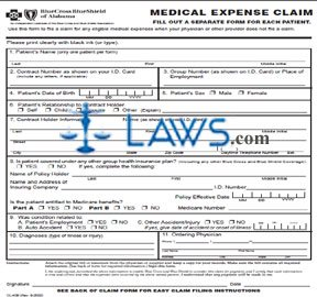 BC/BS Expense Claim