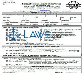 Form PEEHIP FSA Change 21 Flexible Spending Account Status Change ...