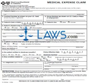 Form CL-438 Medical Expense Claim