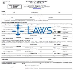 Form RSA-1 PEIRAF BEN Beneficiary Designation RSA-1 & PEIRAF