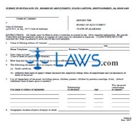 Form B Death Benefit Claim Form
