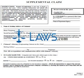 Form C Supplemental Claim Form