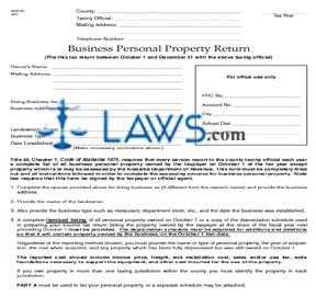 Form ADV-40 Business Personal Property Return