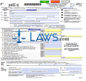 Form 20C-C Consolidated Corporate Income Tax Return