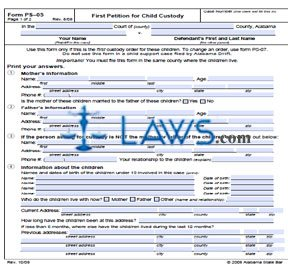 Form ASBPS-05 First Petition For Child Custody