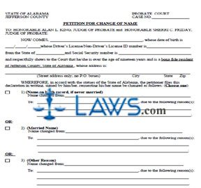 Form Name Change For Jefferson county