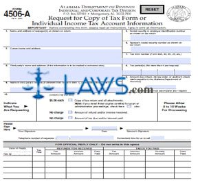 Form 4506-A Request for Copy of Tax Form or Individual Income Tax ...