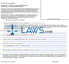 Form Domestic Limited Partnership (LP) Statement of Correction