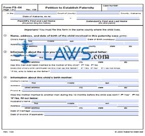 Form PS-04 Petition to Establish Paternity