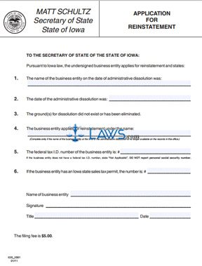 Form 635_2001 Application for Reinstatement