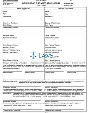 Form 53420 Application for Marriage License-Electronic Version for Counties