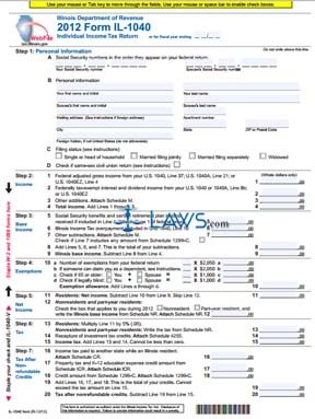 Form IL-1040 Individual Income Tax Return
