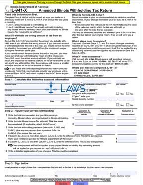 Form IL-941-X Amended Illinois Withholding Tax Return - Illinois ...