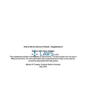 Form Divorce with Minor Children Packet