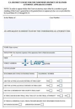 Form Attorney Appearance Form