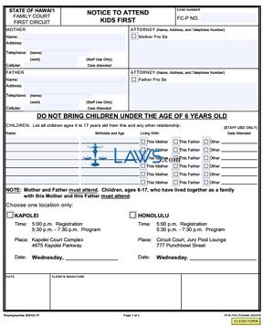Form 1F-E-741 Notice to Attend Kids First