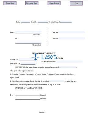 Non-Military Affidavit
