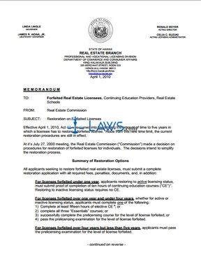 Restore a Hawaii License