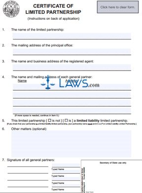 Form ID 230 Certificate of Limited Partnership - Idaho Forms ...