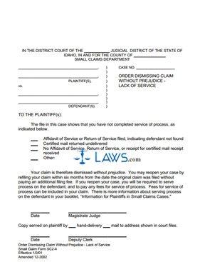 Order to Dismiss SC 2-4