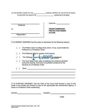 Order Dismissing Action DV 9-5