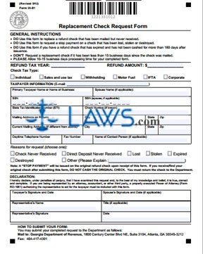 Form IA-81 Replacement Check Request Form