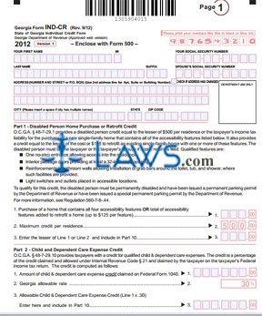 Form IND-CR Individual Credit Form
