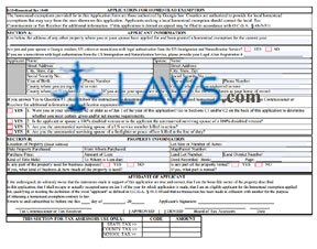 Form Application for Homestead Exemption