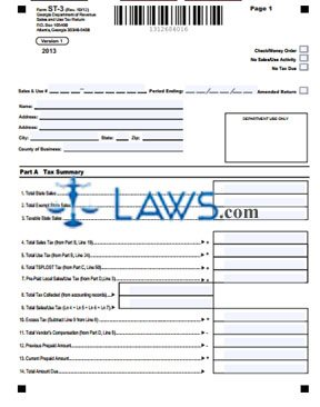 Form ST-3-Sales and Use Tax Return