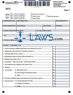 Form 501 Fiduciary Income Tax Return