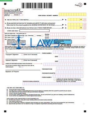 Form 500-EZ Short Individual Income Tax