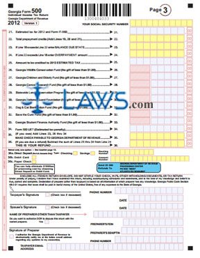 Form 500 Individual Income Tax Return