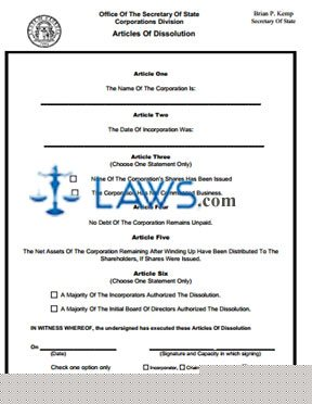 Form CD 400 Instructions for Non-commenced Business Profit Organization Dissolution