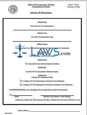 Form CD 520 Instructions for Non-Commenced Business Non-profit Organization Dissolution