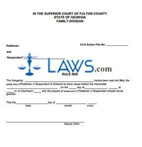 Rule Nisi - Georgia Forms - | Laws.com