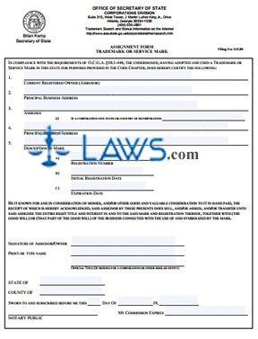 Assignment Form for Trademark or Service Mark