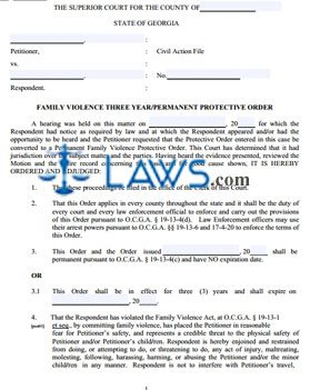 Permanent Family Violence Protective Order