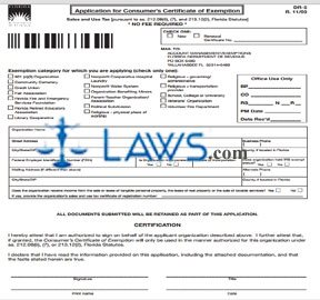 Form DR-5 Application for Consumer Certificate of Exemption - Tax ...