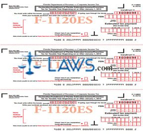 Form F-1120ES Declaration Installment of Florida Estimated Income Franchise Tax