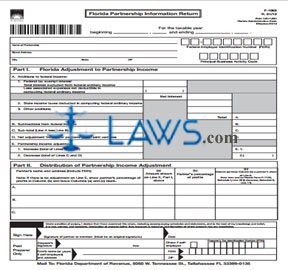 Form F 1065 Florida Partnership Information Return Income Tax